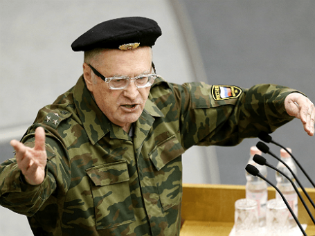 Владимир Жириновский во время выступления на пленарном заседании Государственной думы