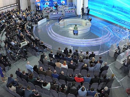 «Прямая линия с Владимиром Путиным» 17 апреля 2014