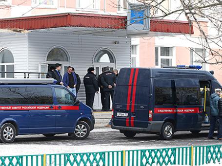 Здание школы №263 в Москве, где в феврале 2014 года старшеклассник Сергей Г. застрелил несколько человек