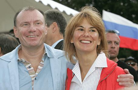 Владимир Потанин с супругой Натальей, лето 2004 года.