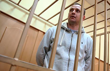 Бывший руководитель Главного управления экономической безопасности и противодействия коррупции МВД России генерал Денис Сугробов в Басманном суде.