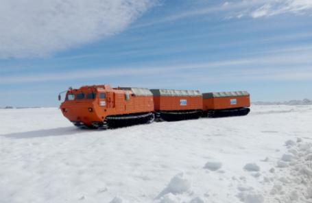 Вездеход-амфибия «Витязь». Фото: пресс-служба компании «Газпром нефть шельф».