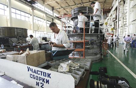 Производство авиационных двигателей на заводе «Мотор Сич» в Запорожье, Украина.