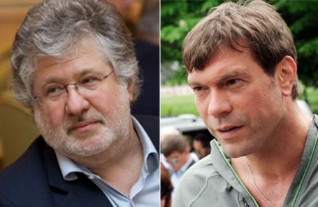 Губернатор Днепропетровской области Игорь Коломойский и экс-кандидат в президенты Украины Олег Царев.