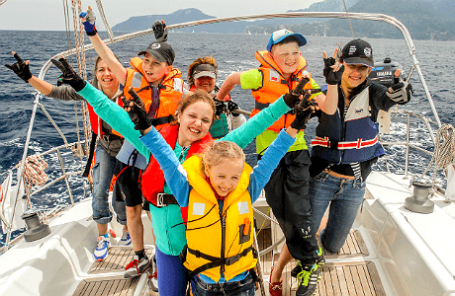 Детский экипаж лодки Aida. Фото: Олег Zelo