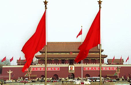 Площадь Тяньаньмэнь в Пекине.