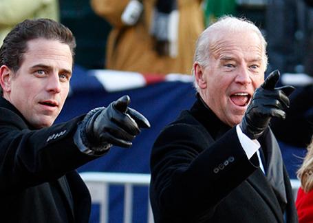 Хантер Байден с отцом, вице-президентом США Джозефом Байденом (слева направо).