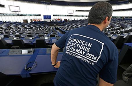 День открытых дверей в Европарламенте в Страсбурге перед выборами,которые пройдут с 22 по 25 мая 2014.