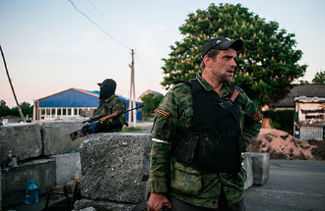 Ополченцы провозглашенной Донецкой народной республики.