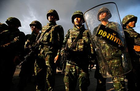 Тайские солдаты в Бангкоке, 22 мая 2014.