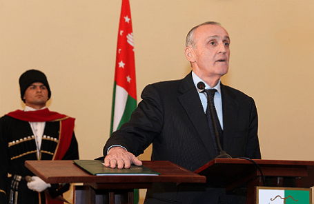 Инаугурация президента Абхазии Александра Анкваба, сентябрь 2011 года.