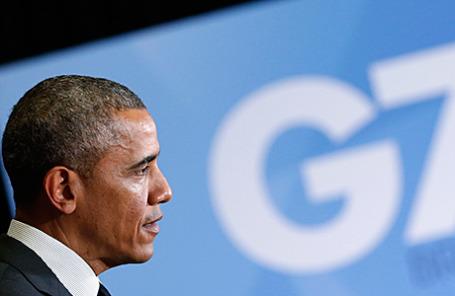 Выступление президента США Барака Обамы на пресс-конференции в Брюсселе 5 июня 2014.
