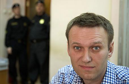 Оппозиционер Алексей Навальный в Замоскворецком суде.