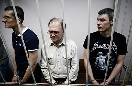 Фигуранты «Болотного дела» Ярослав Белоусов, Сергей Кривов и Артем Савелов.