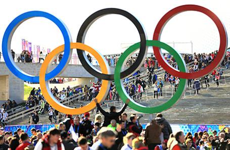 Болельщики на ХХII зимних Олимпийских играх в Сочи.