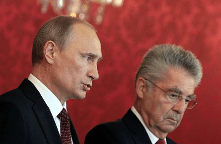 Президент РФ Владимир Путин и президент  Австрии Хайнц Фишер
