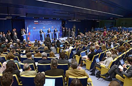 Саммит Россия-ЕС в Брюсселе.