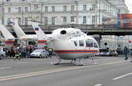 Медицинский вертолет в Москве