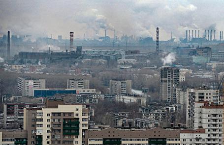 Вид на город Челябинск.
