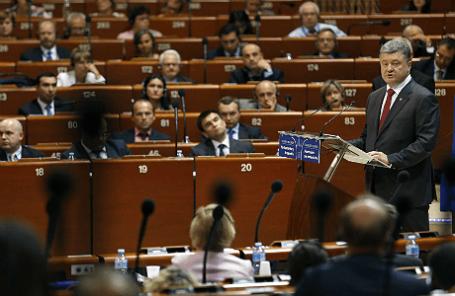 Президент Украины Петр Порошенко на саммите ЕС