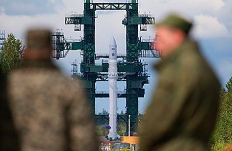 Перед началом испытательного запуска ракеты легкого класса «Ангара-1.2ПП» на космодроме «Плесецк».