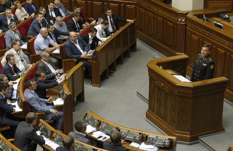 Выступление в Раде Валерия Гелетея, предложенного Порошенко на пост главы Минобороны
