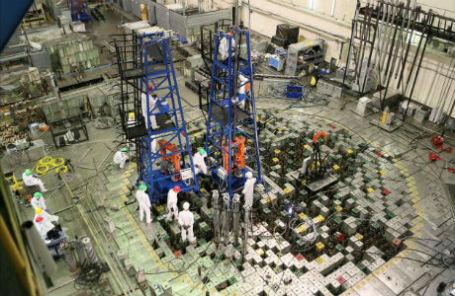 Центральный зал ЛАЭС во время проведения работ по ВРХ.