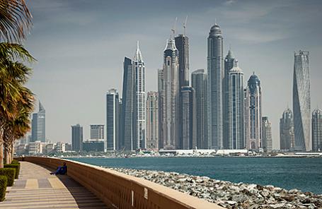 Вид на район Дубай Марина, ОАЭ.