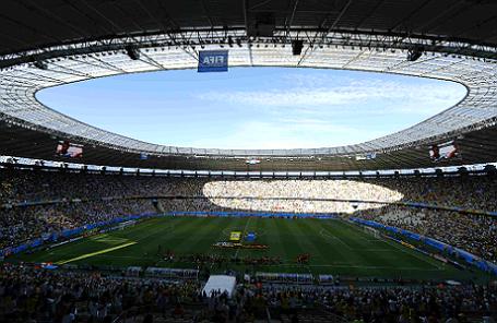 Футбольный стадион Кастелан, расположенный в Форталезе, Бразилия.