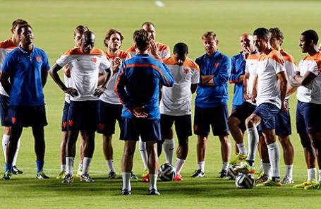 Игроки сборной Голландии по футболу.