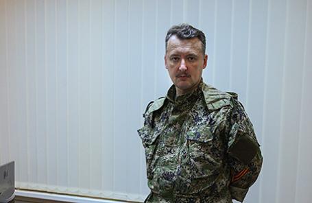 Командующий силами народного ополчения Славянска Игорь Стрелков.