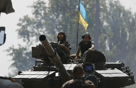 Танк украинских ВС