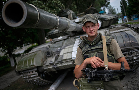 Солдат украинской армии.