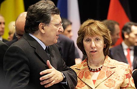 Председатель Еврокомиссии Жозе Мануэл Баррозу и верховный представитель ЕС по внешней политике Кэтрин Эштон.