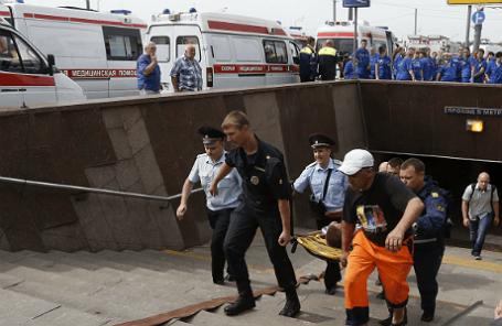 Эвакуация пострадавших пассажиров