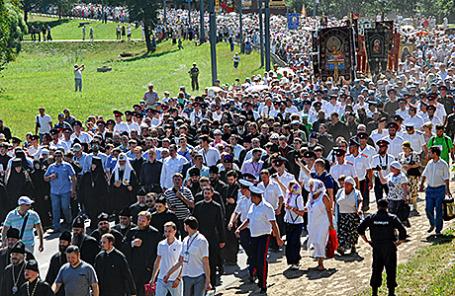 Крестный ход в честь 700-летия со дня рождения преподобного Сергия Радонежского.