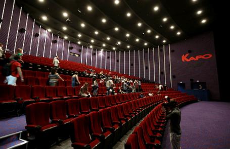 Презентация кинотеатра нового поколения «КАРО Vegas 22» в Москве.