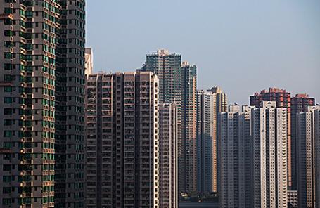 Жилые дома в Гонконге.