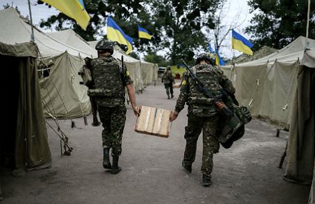 Члены Нацгвардии Украины.