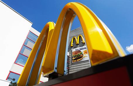 Один из ресторанов McDonald's на окраине Москвы.