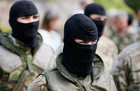 Добровольцы батальона «Азов».