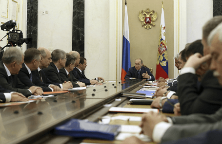 Президент РФ Владимир Путин проводит заседание Совета безопасности