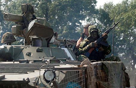 Солдаты украинской армии.