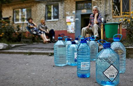 Славянск. Местные жители