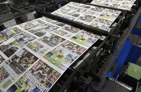 Номер газеты Bild  в типографии