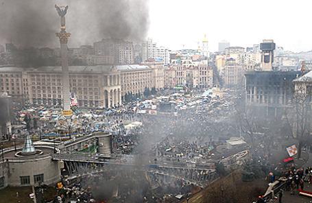 Площадь Независимости в Киеве.