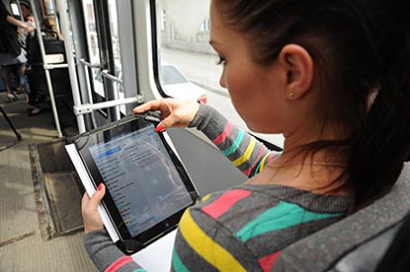 Общественный транспорт с бесплатной сетью Wi-Fi.