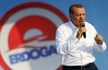 Действующий премьер-министр Турции и кандидат в президенты Реджеп Тайип Эрдоган.