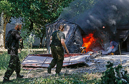Ополченцы в Донецке.