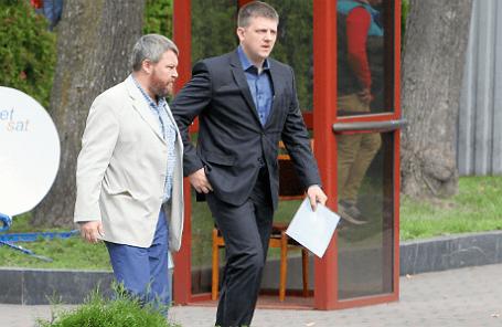 Вице-премьер самопровозглашенной ДНР Андрей Пургин и председатель Верховного совета ЛНР Алексей Карякин (слева направо)